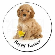 'Happy Easter' Cockerpoodle Fridge Magnet Stocking Filler Christmas, AD-CP6DA1FM