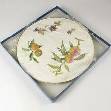 Royal Worcester Evesham Gold Arden Cheese Platter Gateaux Cake Plate Boxed