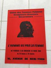 VINTAGE Francese Art Pubblicità Poster 1968 Camille Claudel scultore RODIN PARIS