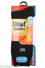 LADIES HEAT HOLDER THERMAL SOCKS 4-8 UK 37-42, 5-9 us BLACK
