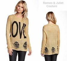 NEW Romeo & Juliet LOVE Couture Deconstructed Sweater NORDSTROM $130 Small
