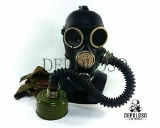 Soviet russian gas mask GP-7. Black rubber full set+hose. steampunk industrial