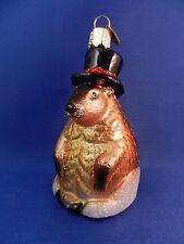 Groundhog Old World Christmas Ornament Blown Glass Tree Animal NWT12412