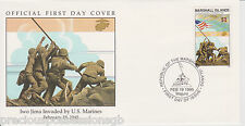 W88 1-1 Isole Marshall FDC COVER 1995 IWO JIMA invaso da Marines 1945