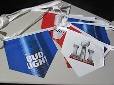 NEW Bud Light Super bowl LI Football NFL Beer String Banner Budweiser Flags T21