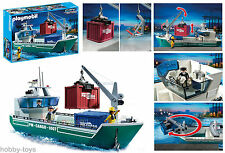 * PLAYMOBIL * Cargo Ship with Crane 5253 For Airport / Docks / Train * BNIB *
