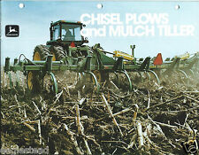 Farm Implement Brochure - John Deere - Chisel Plow Mulch Tiller - c1980 (F4154)