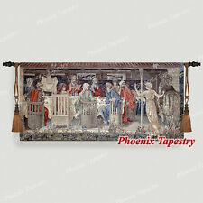 "William Morris Holy Grail Tapestry - Knights of the Round Table 54""x25"", US"