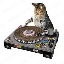 CAT Tiragraffi PAD + divertente DJ Deck plasmato + attività gioco giocattolo Scratcher Board GATTINO