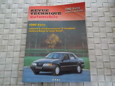 REVUE TECHNIQUE FORD SIERRA ESSENCE DIESEL et TURBO DIESEL