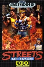 Framed SEGA Genesis Game Print – Streets of Rage (Gaming Arcade Classic Picture)