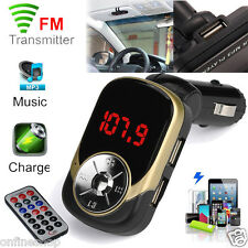 Car MP3 Player Wireless FM Transmitter Modulator Kit USB SD TF MMC LCD Remote
