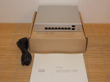 New Cisco Meraki MS220-8P-HW Cloud Managed PoE Switch 3Y License begin 04/2016