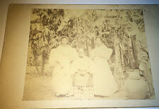 Rare Antique Victorian Beautiful Women, Philippine Family! Outdoor Cabinet Photo