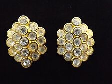 "NOLAN MILLER GLAMOUR COLLECTION""CLUSTER OF GRANDEUR""EARRINGS Goldtone New w/Tags"
