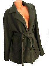 J. JILL Wool Jacket Coat L Green Belted