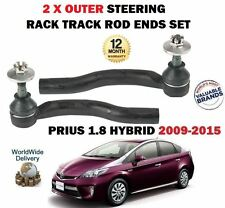 FOR TOYOTA PRIUS 1.8 2009-  LEFT + RIGHT 2x OUTER STEERING RACK TRACK ROD END