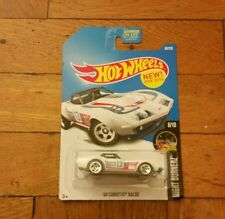 Hot Wheels 1969 69 Chevy Corvette Racer in white New for 2016 Q case