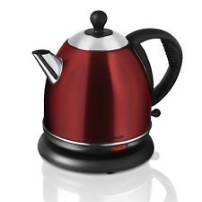 SWAN SK24020ROUN 1500W 0.8 LITRE ROUGE STAINLESS STEEL ELECTRIC CORDLESS KETTLE