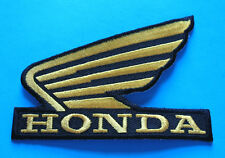BRAND NEW HONDA (GOLD) MOTORCYCLE BIKER IRON ON PATCH