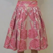 Temperley London Women Tula Jacquard Pale Pink Skirt SIZE UK 14       #*