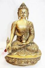 "F633 Exclusive Metal Statue of Medicine  Buddha 12.9"" tall Hand Crafted in Nepal"