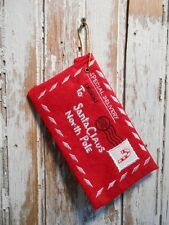 Letter to Santa Felt Red Envelope Embroidery Candy Cane Christmas Ornament