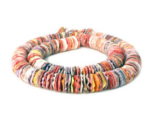 Multicolored Pectin Shell Heishi Beads (10 mm / 16 Inches Strand)