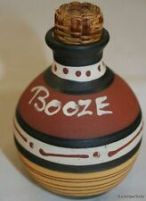 VINTAGE EMPTY MINIATURE POTTERY BOTTLE LANDS END BOOZE