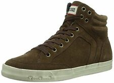 Hilfiger Denim Rory 6B Womens Hi-Top Suede Trainers Shoes Brown 4 UK New