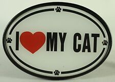 I LOVE MY CAT TRAILER HITCH COVER Heart Kitten Pet NEW Truck RV ATV Car Tow HD