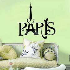 Removable Eiffel Tower Paris PVC Art Quotes Wall Sticker Home Mural Decal Decor