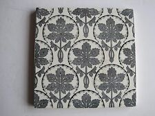 ANTIQUE VICTORIAN AESTHETIC GREY ON WHITE TRANSFER PRINT TILE - T. & R. BOOTE