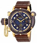 New Men's Invicta 16193 Russian Diver Nautilus Swiss Mechanical Leather Watch