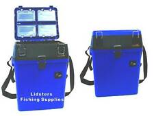 Blue Compact Seat + Tackle Box ideal for junior Carp Coarse anglers Sea Fishing