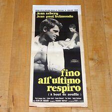 FINO ALL'ULTIMO RESPIRO locandina poster Godard Belmondo Nouvelle Vague 1960 B33