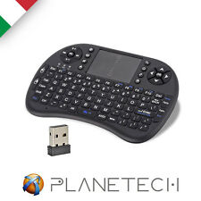 MINI KEYBOARD MINI TASTIERA USB WIRELESS TOUCHPAD PER ANDROID TV BOX