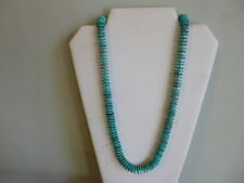 Beautiful Turquoise Heishi Bead And Silver Native Southwestern Style Necklace