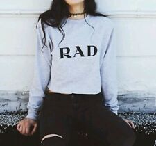 "Brandy Melville sweatshirt gray Cropped Nancy  ""rad"" sweatshirt top NWT sold out"
