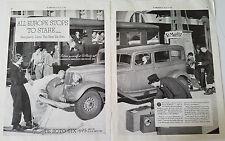 1933 DeSoto Car Skiing Ski Skiis at St. Moritz Two Page  Original Ad