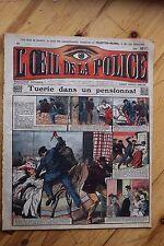 Rarissime L' OEIL DE LA POLICE N° 31 Tuerie dans un Pensionnat