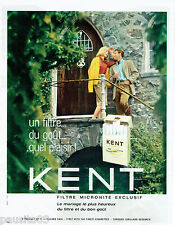 PUBLICITE ADVERTISING 115  1965  KENT   cigarettes