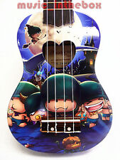 "Woodnote Cute Zombie Corps of Pattern- 21"" Soprano Wooden Ukulele & Black Bag"