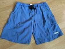 Fabulous The North Face Men's M Blue Nylon Swimming Trunk Shorts Zip Pockets