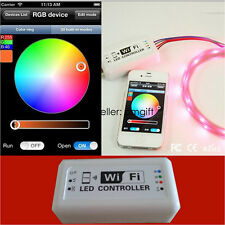 12-24V Wireless WIFI RGB LED Strip Light Controller Remote For iOS Android Hot