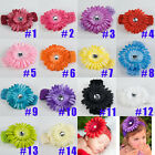 14 Colors Girls Baby Hair bow Daisy Flower Clip+Headbands Hair Bow Crochet Cute