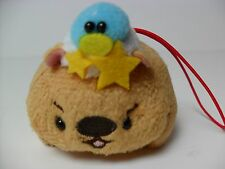 Amuse Brown Wombat w/ Baby Bird in Nest 8cm Plush Strap Kawaii Pokemon Rilakkuma