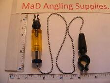 Indicateur jaune bite bobine avec chaîne et clip fo brochet, de la carpe & grossier pêche