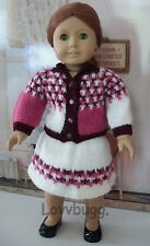 """Blocked Pinks Sweater Skirt SET Clothes for 18"""" American Girl Doll Wow Seelction"""
