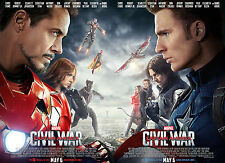 "Captain America Civil War Movie Poster 11"" x 16.5"" [ T18 ]"